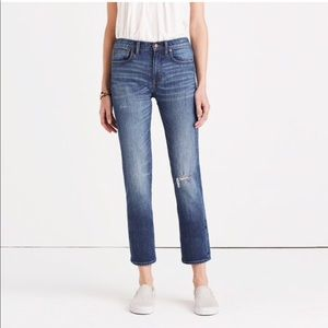 Madewell Cruiser Straight Jeans in Roger Wash
